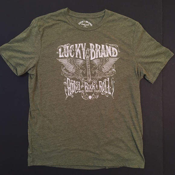 1c4294426 Lucky Brand Other - LUCKY BRAND Rooted in Rock & Roll T-Shirt 🍀🎸